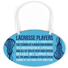 Girls Lacrosse Oval Sign - Lacrosse Players