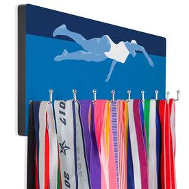 Swimming Hooked on Medals Hanger - Swimmer Girl