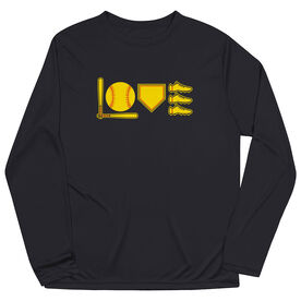 Softball Long Sleeve Performance Tee - Love To Play