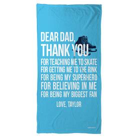 Figure Skating Beach Towel Dear Dad