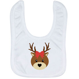 Baby Bib - Reindeer with Bow
