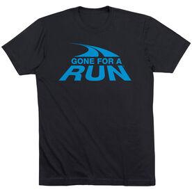 Running Short Sleeve T-Shirt - Gone For A Run Logo (Blue)
