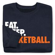 Basketball Crew Neck Sweatshirt - Eat Sleep Basketball