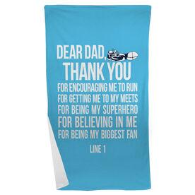 Track and Field Beach Towel Dear Dad