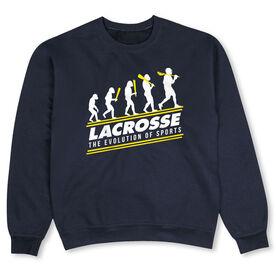 Guys Lacrosse Crew Neck Sweatshirt - Evolution of Lacrosse