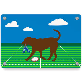 Rugby Metal Wall Art Panel - Ray The Rugby Dog
