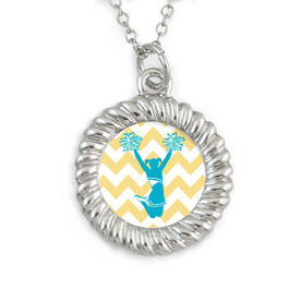 Braided Circle Necklace Cheerleader Silhouette