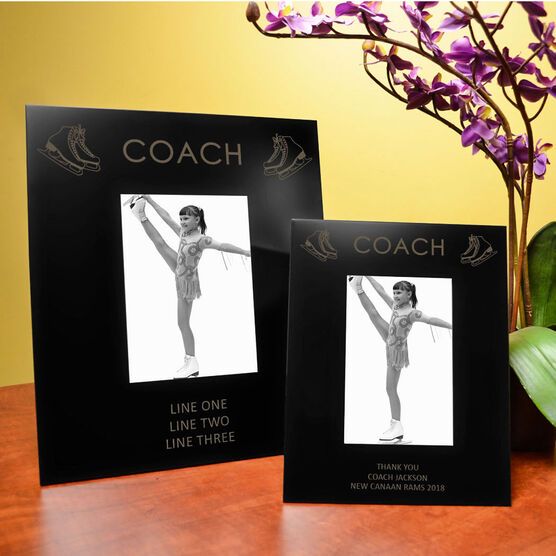 Figure Skating Engraved Picture Frame - Coach
