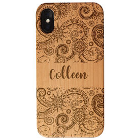 Personalized Engraved Wood IPhone® Case - Pattern With Name