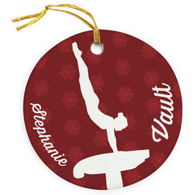 Gymnastics Porcelain Ornament Vault