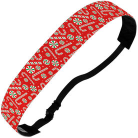 Athletic Juliband No-Slip Headband - Candy Canes