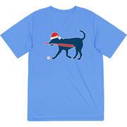 Baseball Short Sleeve Performance Tee - Play Ball Christmas Dog