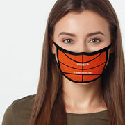 Basketball Adult Face Mask - I'd Rather Be Playing Basketball
