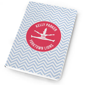 Cheerleading Notebook Personalized Cheerleader Silhouette with Chevron