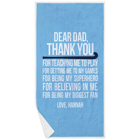 Field Hockey Premium Beach Towel - Dear Dad