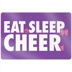 """Cheerleading 18"""" X 12"""" Aluminum Room Sign - Eat Sleep Cheer"""