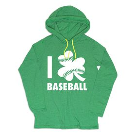 Women's Baseball Lightweight Hoodie - I Shamrock Baseball