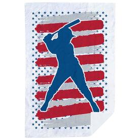 Softball Premium Blanket - USA Batter