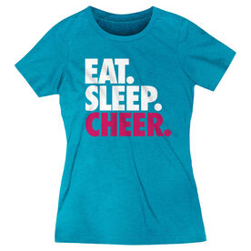 Cheerleading Women's Everyday Tee - Eat. Sleep. Cheer.