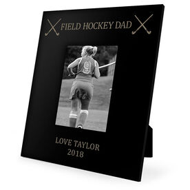 Field Hockey Engraved Picture Frame - Field Hockey Dad