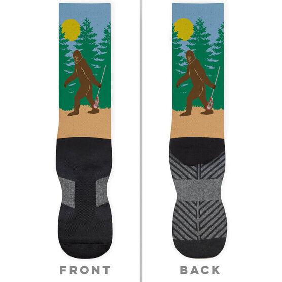 Guys Lacrosse Printed Mid-Calf Socks - Bigfoot