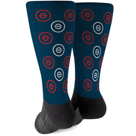 Wrestling Printed Mid-Calf Socks - Ring Pattern