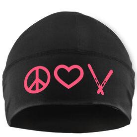 Skiing Beanie Performance Hat - Peace Love Ski