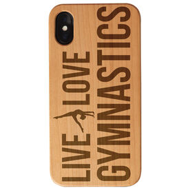 Gymnastics Engraved Wood IPhone® Case - Live Love Gymnastics