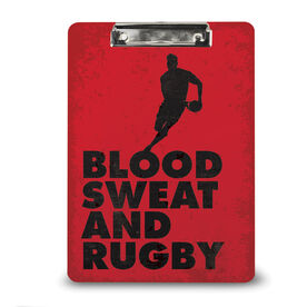 Rugby Custom Clipboard Blood Sweat And Rugby Male