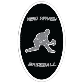Baseball Oval Car Magnet Personalized Fielder
