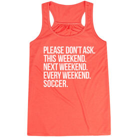 Soccer Flowy Racerback Tank Top - All Weekend Soccer