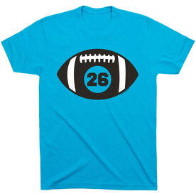 Football Tshirt Short Sleeve Personalized Football with Number