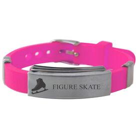 Figure Skate Silicone Bracelet