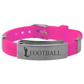 Football Player Silicone Bracelet