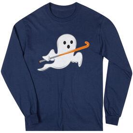 Field Hockey T-Shirt Long Sleeve Field Hockey Ghost