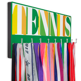 Tennis Hooked on Medals Hanger - Tennis Mosaic