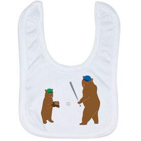 Baseball Baby Bib - Bears