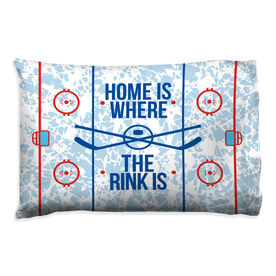 Hockey Pillow Case - Home Is Where The Rink Is (Rink)