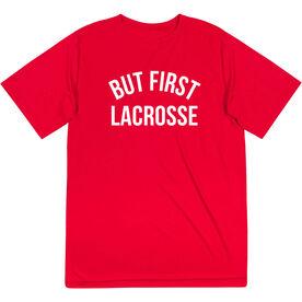 Lacrosse Short Sleeve Performance Tee - But First Lacrosse
