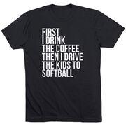 Softball Short Sleeve T-Shirt - Then I Drive The Kids To Softball