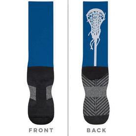 Girls Lacrosse Printed Mid-Calf Socks - Stick