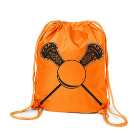 Personalized Lacrosse Sticks Number Sport Pack Cinch Sack