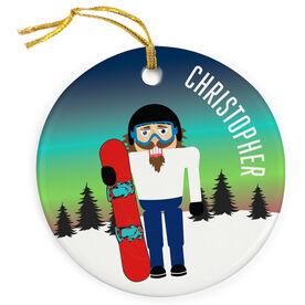 Snowboarding Porcelain Ornament Nutcracker