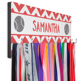 Tennis Hook Board Your Name With Tennis Balls Chevron