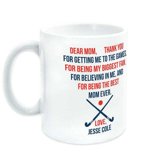 Field Hockey Coffee Mug - Dear Mom Heart