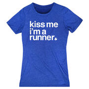 Running Women's Everyday Tee - Kiss Me I am a Runner Saying