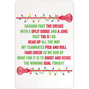 """Girls Lacrosse 18"""" X 12"""" Aluminum Room Sign Players Jingle All The Way"""