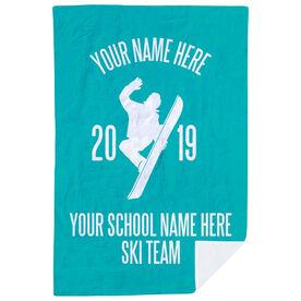 Snowboarding Premium Blanket - Personalized Team