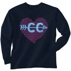 Youth T-Shirt Long Sleeve Cross Country Love