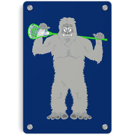 Guys Lacrosse Metal Wall Art Panel - You Yeti To Lax